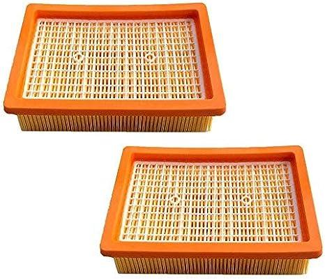 2 filtros HEPA para aspiradora Kärcher MV4 MV5 MV6 WD4 WD5 WD6 ...