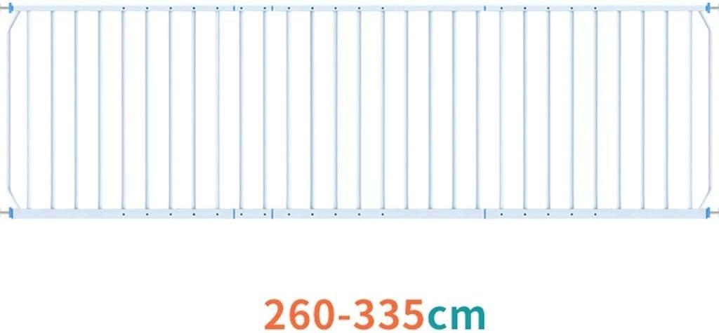 des Protecteurs Extra-Larges for des Barres de Porte de Fen/être de S/écurit/é denfant en Bas /Âge Size : Length 100-165cm Huo Barriere de Securite Enfant Escalier M/étal Blanc Mont/é sous Pression