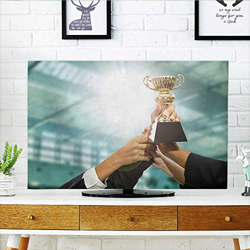 Philiphome tv dust Cover Man Team h Award Trophy for Show Their Victory Dust Resistant Television Protector W35 x H55 INCH/TV -