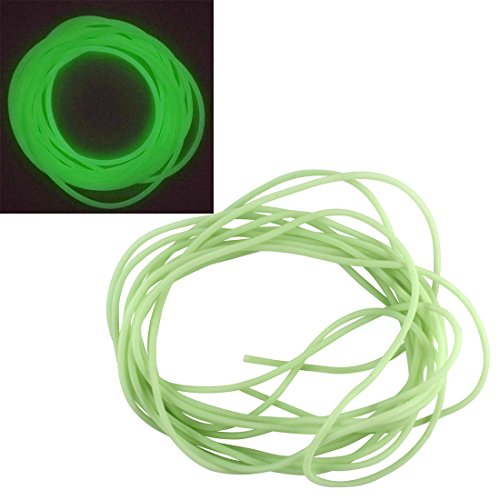 (JSHANMEI Soft Luminous Fishing Tube for Attract Fish Lure Elastic Silicone Soft Rubber Material Saltwater Fishing Tackle 5M)
