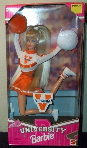 University Virginia Barbie Cheerleader Doll