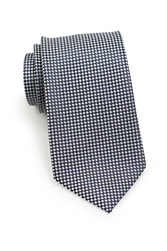 Bows-N-Ties Men's Necktie Modern Micro Check Microfiber Satin Ties 3.25 Inches (Graphite Gray) ()