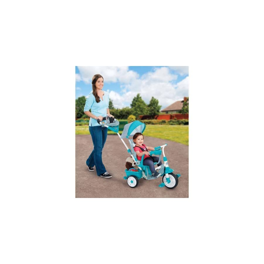 Perfect Fit 4 in 1 Trike, Teal 46.00 x 18.50 x 36.00 Inches