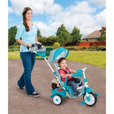 Perfect Fit 4-in-1 Trike, Teal 46.00 x 18.50 x 36.00 Inches by Little Tikes