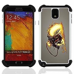For Samsung Galaxy Note3 N9000 N9008V N9009 - Flamethrower Skeleton Warrior Dual Layer caso de Shell HUELGA Impacto pata de cabra con im??genes gr??ficas Steam - Funny Shop -