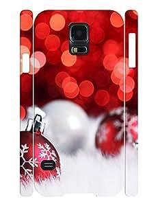 Love Artsy Winter Festival Tree and Snowmen Pattern Print on Samsung Galaxy S5 I9600 Case by lolosakes