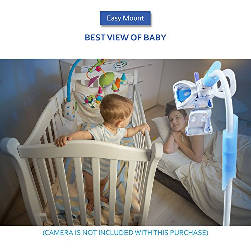 20% Off ! $15.99 Only! EasyMount Universal Baby Monitor Mount, Infant Video Monitor Holder and Shelf, Fit for Most Baby Cameras, Monitors, Flexible Camera Stand and Bendy Arm for Best View of Baby by MoonyBaby (Image #8)