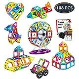 Jasonwell Bloques Magneticos Juguetes Didacticos 3D Creativos y Educativos Mejor Regalo Aprenda El Color y La Forma Juguetes para Niños de 3 4 5 6 7 8 9 Años