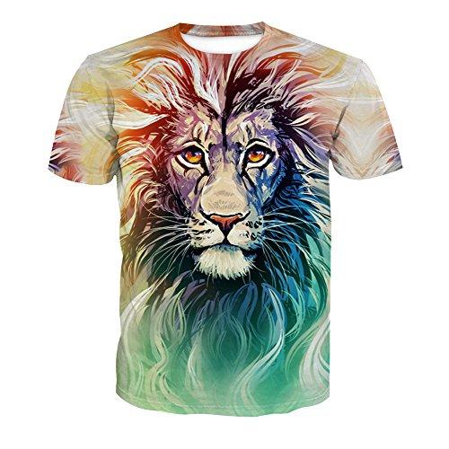 Imprimé shirt T Rond Acvip Manches 9 Homme Animal Courtes Col Style 7qwEwn54