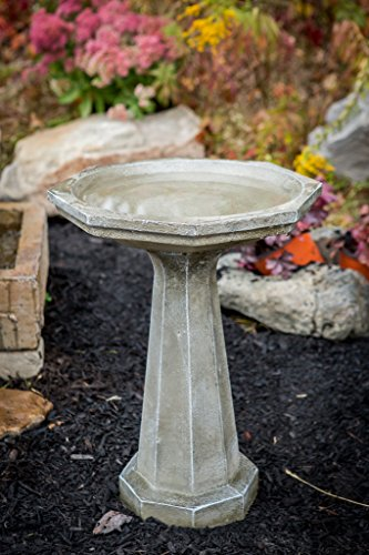 Athena Garden Cast Stone Large Octagon Bird Bath