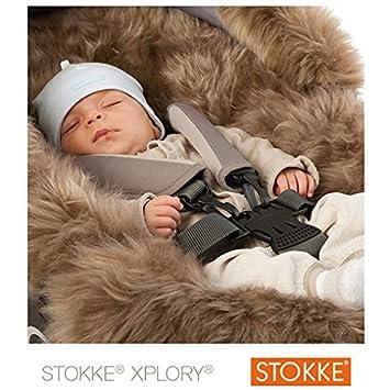 Stokke - Forro de piel ® de borrego genuina para Coche de Paseo marrón: Amazon.es: Bebé