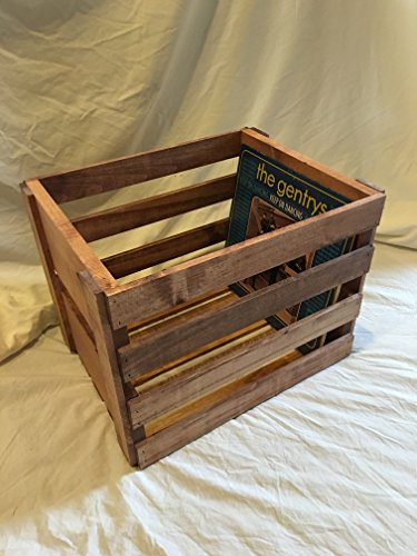 Vinyl Record Holder Wood Crate (Storage Wooden Crate)