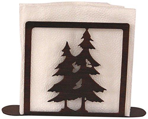 Coast Lamp Iron Double Pine Tree Napkin - Napkin Holder Double