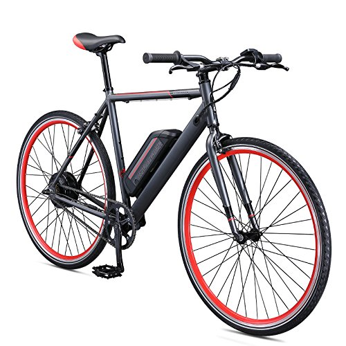 Schwinn Monroe 250 Watt hub-Drive, Fixie Electric Bicycle - 700c Wheel Size, Mens/Womens (Medium)