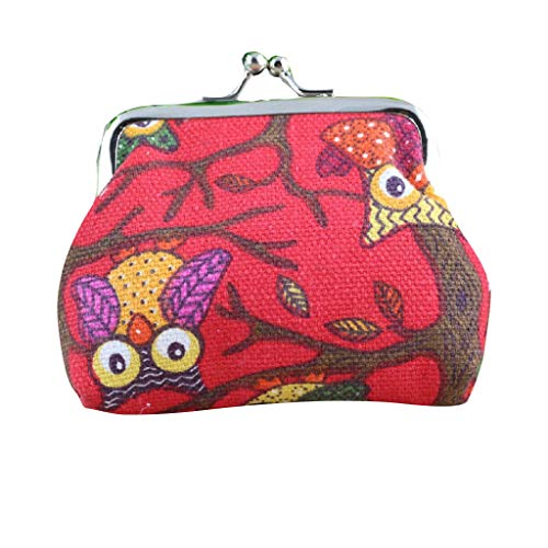 Coin Purse, Bloomn Store Women Lady Retro Vintage Owl Small Wallet Hasp Purse Clutch Bag