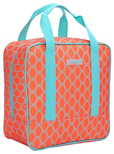 Adult Insulated Lunch Bag, Large, Bright Orange ()
