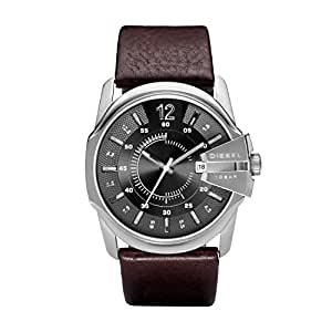 Diesel Men's Quartz Watch, Analog Display and Leather Strap Dz1206, Brown Band