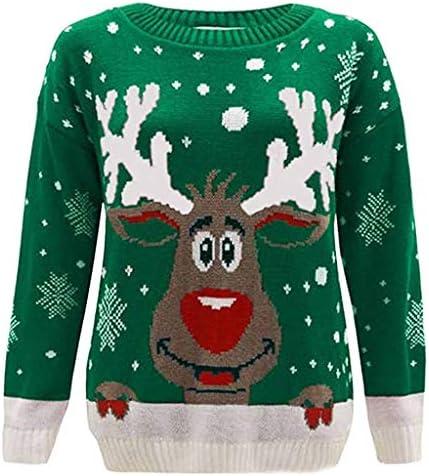 [해외]Graphic Sweatshirts for Women Long Sleeve Christmas Reindeer Snowflake Printed O-Neck Sweatshirt Tops Blouse Shirts / Graphic Sweatshirts for Women Long Sleeve Christmas Reindeer Snowflake Printed O-Neck Sweatshirt Tops Blouse Shir...