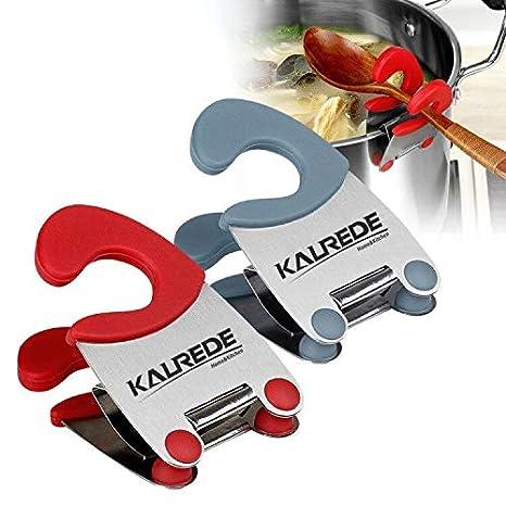 Amazon.com: KALREDE - Pinza para olla - Porta cuchara de ...