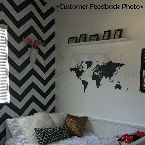 Chalkboard World Map Decals