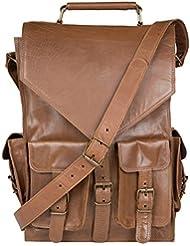 Enew Handmade Vintage Style Genuine Brown Leather Messenger Bag Cross Body Satchel Shoulder Briefcase Bag Rucksack...