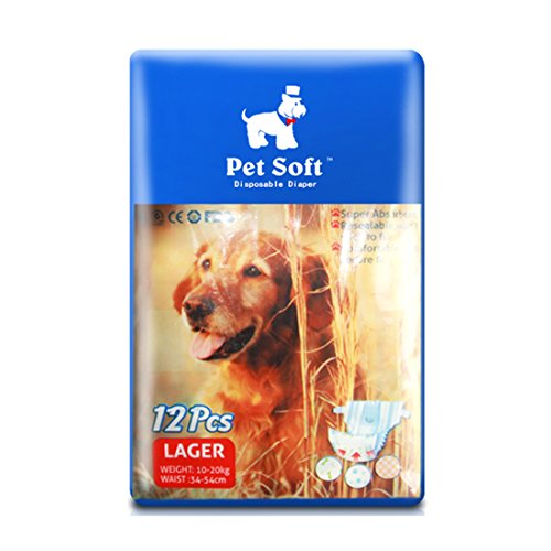 SENYEPETS Disposable Female Dog Diapers, Physiological Pants, absorb a large amount of urine and Prevent pet estrus (L) -