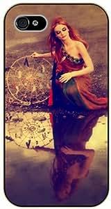 "SHURELOCK iPhone 6 (4.7"") Dreamcatcher, pretty girl and lake - black plastic case / Inspiration"