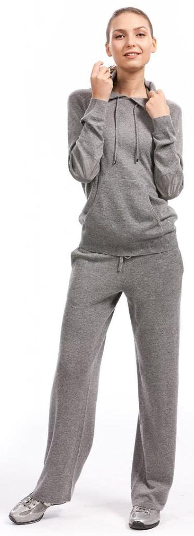 Damen Jogginghose - 100% Kaschmir - Citizen Cashmere (Silbergrau)