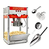 kettle popcorn equipment - Olde Midway Commercial Popcorn Machine Maker Popper with Large 12-Ounce Kettle