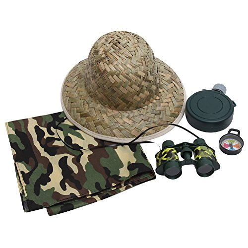 Kids Safari Explorer Dress Up Accessory Set