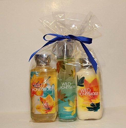 Bath & Body Works ~ Signature Collection ~ * Wild Honeysuckle * ~ Shower Gel ~ Fine Fragrance Mist & Body Lotion ~ Trio Gift Set ()