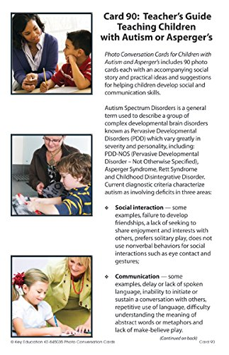 Key Education Photo Conversation Cards For Children with Autism And Aspergers