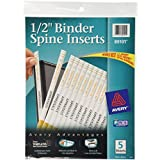 Avery Binder Spine Inserts, 0.5 Inches, Pack of 80 (89101)