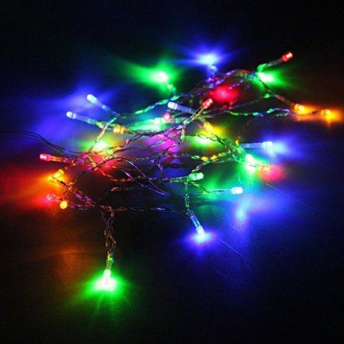 Pixnor 4M 40-LED 3-Mode Battery Powered LED String Lights Decorative Lights for Christmas /Wedding /Party (Colorful Light) - Led Christmas Lights Battery
