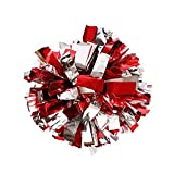 2 Of Plastic Cheerleader Cheerleading Pom Poms Metallic Foil & Plastic Ring Pom Sports Party Costume Accessory Set Ball Dance Fancy Dress Night Party Sports Pompoms