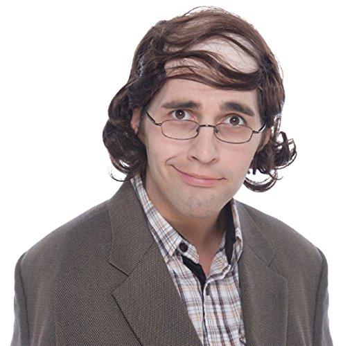 Professor Mullet Wig (Brown) Adult (Wig Mullet Professor)