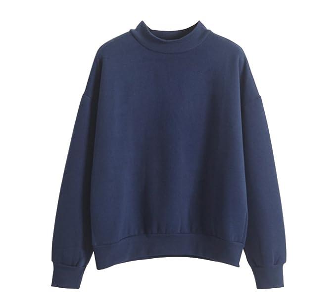LifeWheel Moda Harajuku Estilo Mujeres Loose Fleece Sudadera Pullover Sudaderas con Capucha Blusa Tops, Mujer