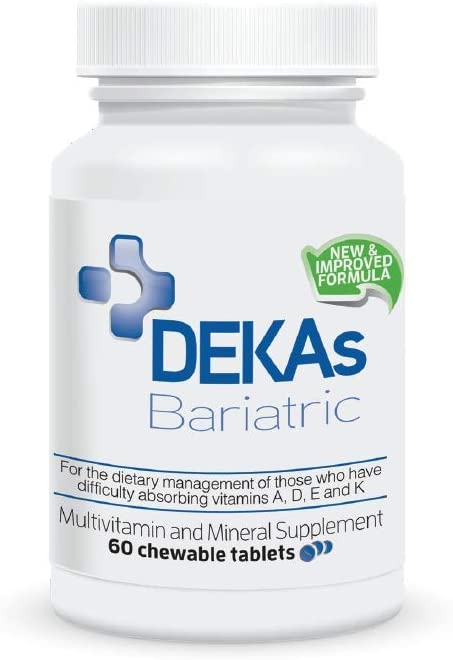 DEKAs Bariatric NEW Formulation, Clinically Tested Delivery Technology to Enhance Absorption of Fat-Soluble Vitamins & Nutrients, Meets ASMBS Guidelines