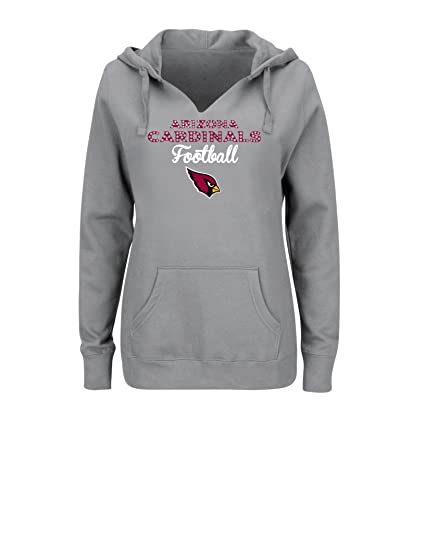 NFL Arizona Cardinals Women s Perfect Playtime Long Sleeve Split-Neck Pullover  Hoodie a7805e090