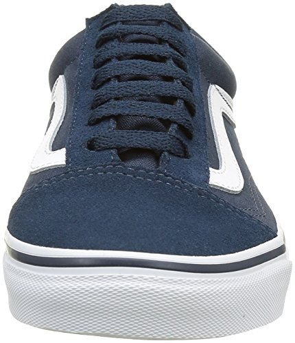Azul Zapatillas Suede True Unisex Skool White Teal Vans Canvas para Adultos Old Y4wBHwARp