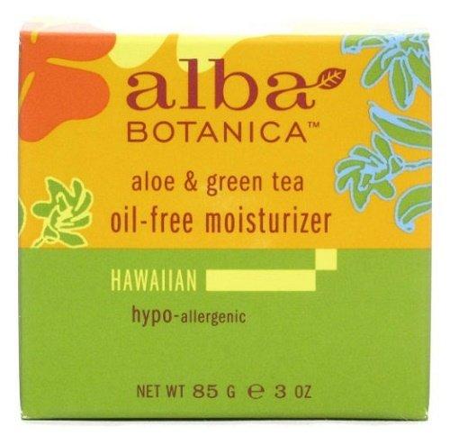 Alba Botanica Hawaiian Oil-Free Moisturizer, Refining Aloe & Green Tea, 3 Ounce,Pack of 1