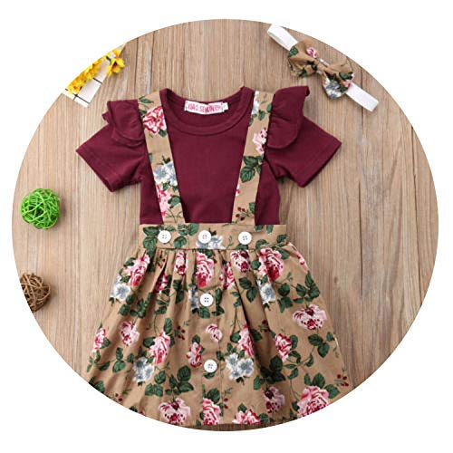 3PC Toddler Kid Baby Girl Clothes Short Sleeve