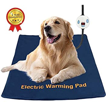 Youshuo Pet Heating Pad,Electric Heating Pad for Dogs and Cats, Waterproof Adjustable Warming Mat, with Chew Resistant Steel Cord 23.6