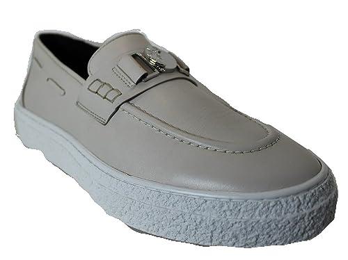 Versace Collection - Mocasines de Cuero para Hombre Beige Size: 41 EU: Amazon.es: Zapatos y complementos