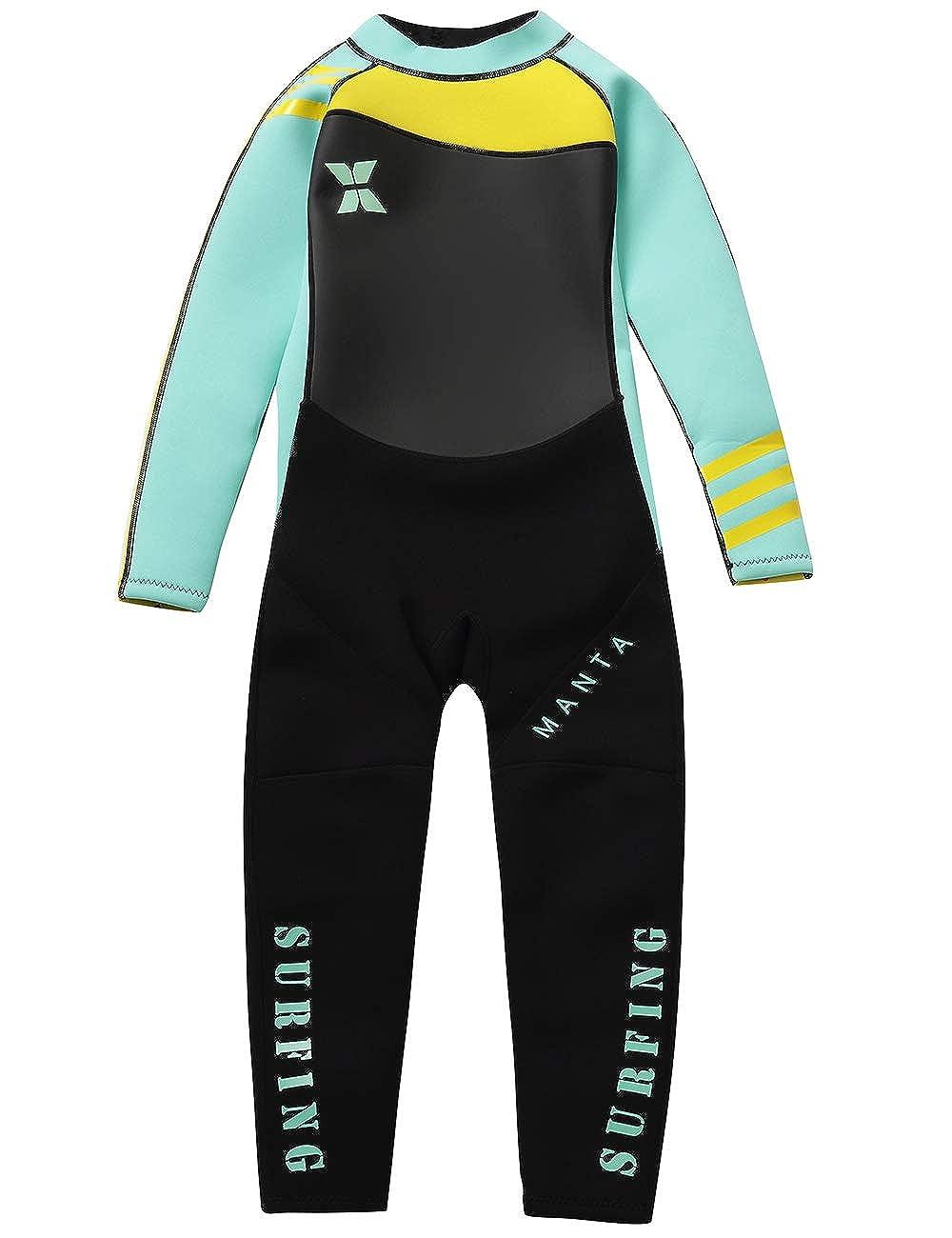 Gogokids Muta Termica per Bambina Bambini Protezione Solare Ragazze Ragazzi Muta da Sub Intero 2.5mm Neoprene per Surf Diving Snorkeling Nuotare UV 50