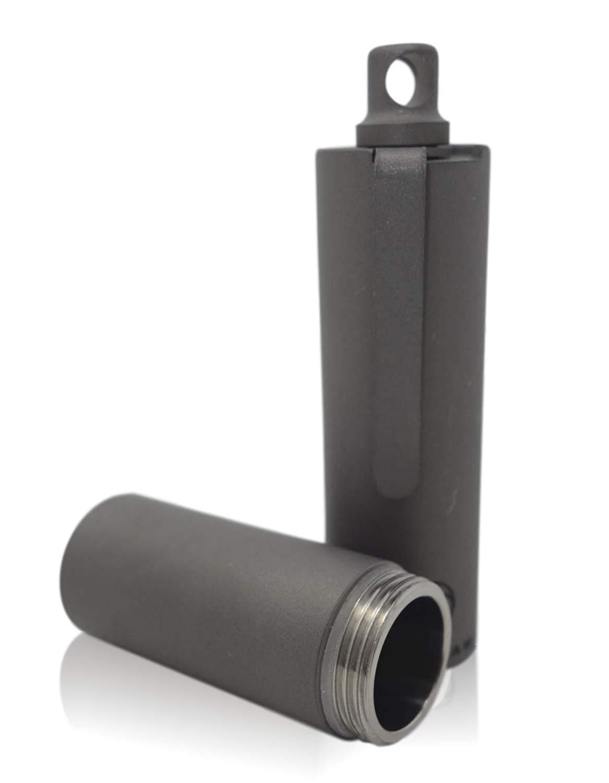 Valtcan Pocket Toothpick Holder Full Titanium Pocket Clip Quick Dispenser Keychain Easy Open