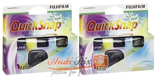 Fujifilm 7130786 QuickSnap 400 Disposable Flash Camera (Pack of 2) by Fujifilm