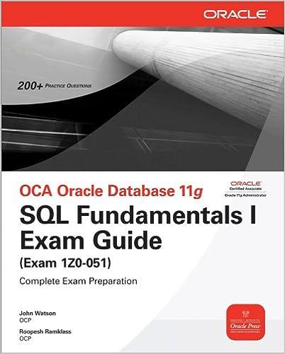Amazon com: OCA Oracle Database 11g SQL Fundamentals I Exam