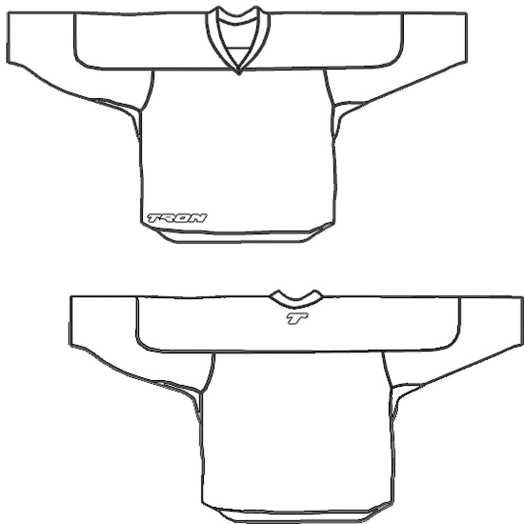 amazon com tron dj100 dry fit hockey jersey white hockey