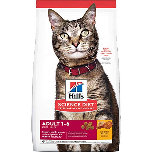 Hill's Science Diet Dry Cat Food, Adult, Chicken Recipe, 4 LB Bag